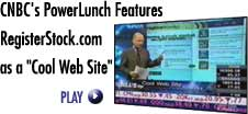 CNBC's PowerLunch Features RegisterStock.com as a 'Cool Website'